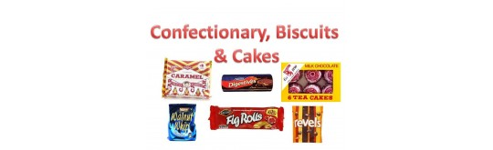 Cakes, Biscuits & Confectionary
