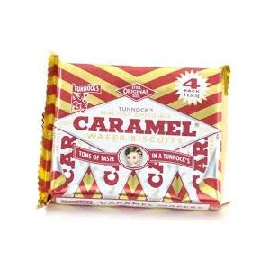 Tunnocks Caramel Milk Chocolate Wafers 8 Pack