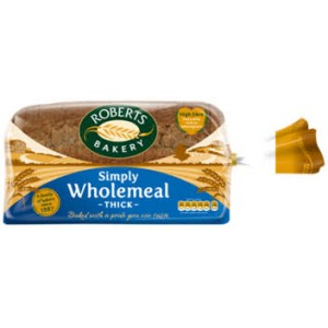 Roberts Bakery Simply Wholemeal Thick Bread 800g
