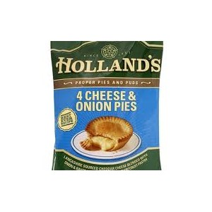 Hollands Cheese & Onion Pies 4 pack