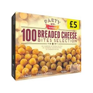 100 Breaded Cheese Bites Selection